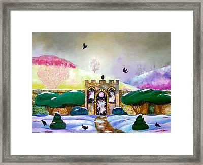 Lightning Portal Framed Print by Jane Tripp