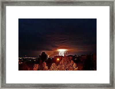 Lightning Power Framed Print