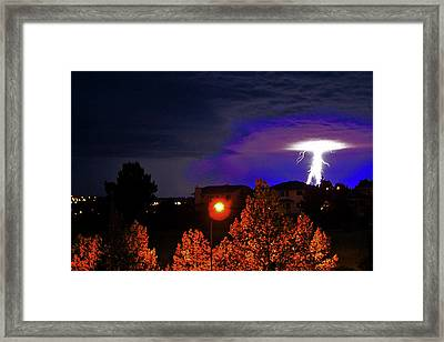 Lightning Power II Framed Print by Al Bourassa