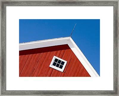Lightning Rod Red Framed Print