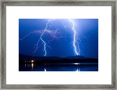 Lightning Storm 08.05.09 Framed Print by James BO  Insogna
