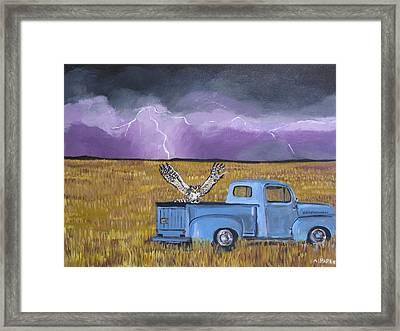 Lightning Storm Framed Print by Aleta Parks