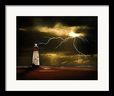 Lightning Bolt Framed Prints
