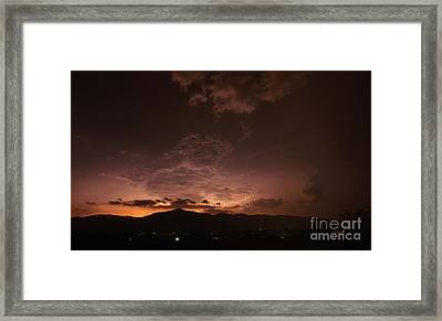 Lightning Streaks  Framed Print