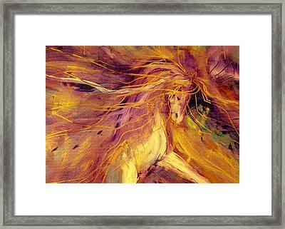 Lightning Stride Framed Print