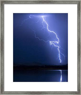 Lightning Strike In The Blue Night  Framed Print by James BO Insogna