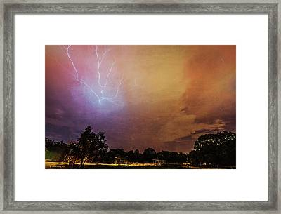 Lightning Strike Framed Print by Marvin Spates