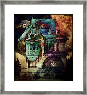 Lightning Strikes Framed Print by Delight Worthyn