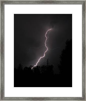 Lightning Strikes Framed Print