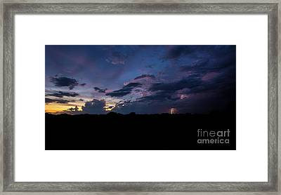 Lightning Sunset Framed Print