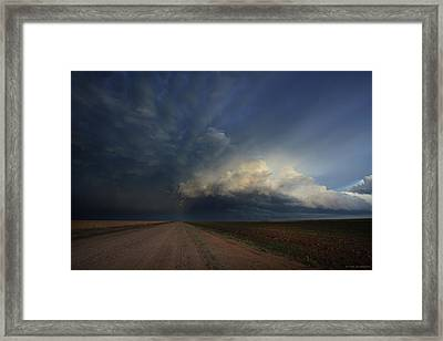 Lighting The Way Framed Print by Brian Gustafson
