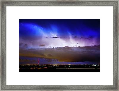 Lightning Thunder Head Cloud Burst Boulder County Colorado Im39 Framed Print
