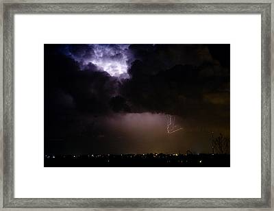 Lightning Thunderstorm Cell 08-15-10 Framed Print by James BO  Insogna