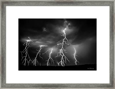 Lightning Thunderstorm Weather Art Framed Print