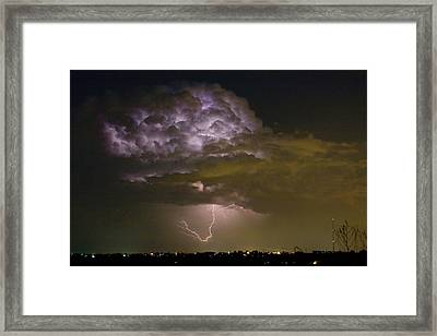 Lightning Thunderstorm With A Hook Framed Print by James BO  Insogna