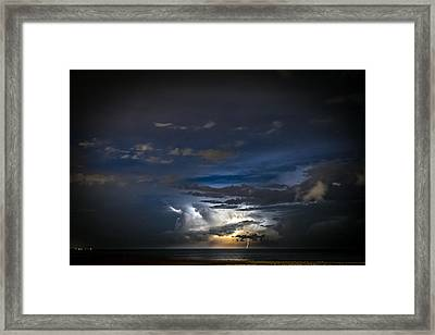 Framed Print featuring the photograph Lightning's Water Dance by Steven Santamour