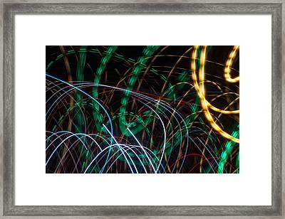 Lightpainting Single Wall Art Print Photograph 1 Framed Print by John Williams