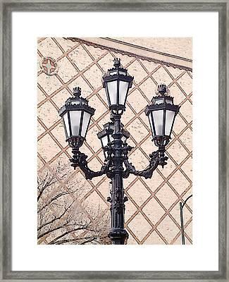 Lightpost Framed Print by Carl Perry