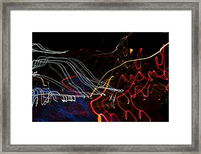 Lights Abstract1 Framed Print by Svetlana Sewell