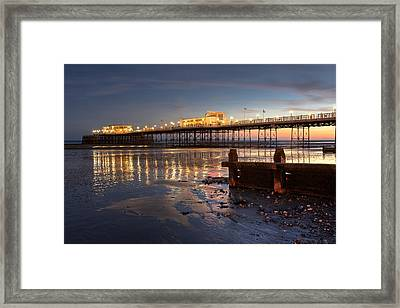 Lights At Dusk Framed Print