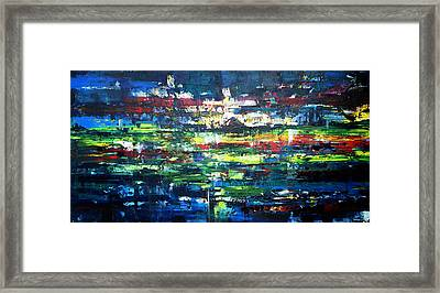 Lights At Ease Beneath The Sky Framed Print by Zlatko Music