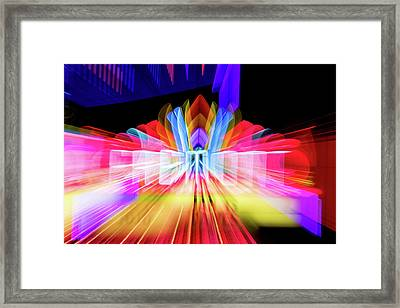 Lights Camera Action Framed Print