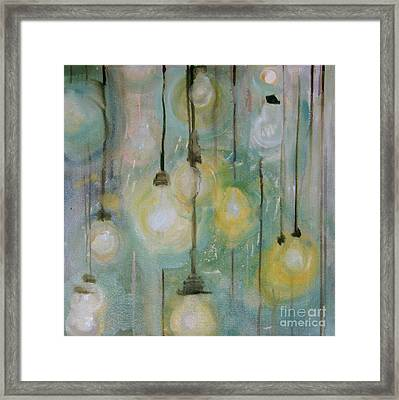 Lights Framed Print by Cathy Jacobs
