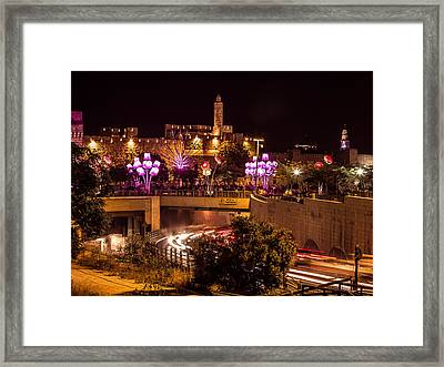 Lights In Jerusalem Framed Print