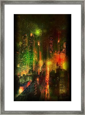 Lights In The City Framed Print by Emma Alvarez