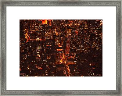 Lights In The City Look Pretty To Me Framed Print by Diane C Nicholson