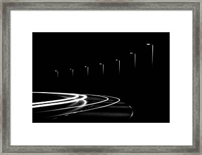 Lights In The Night Framed Print by Gert Lavsen