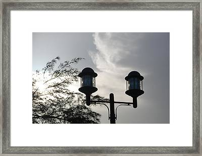 Lights In The Sky Framed Print by Rob Hans