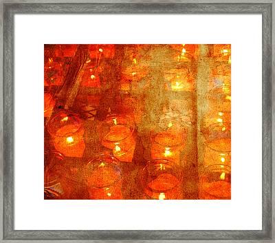 Lights In Your Heart Framed Print by Susanne Van Hulst