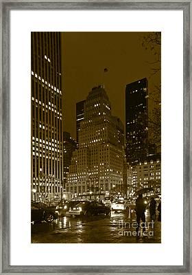Lights Of 5th Ave. Framed Print