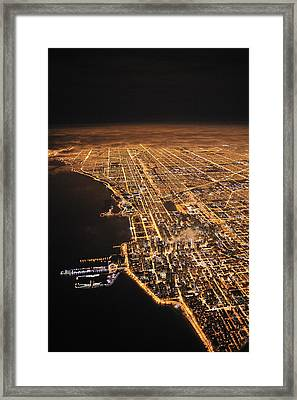 Lights Of Chicago Burn Brightly Framed Print