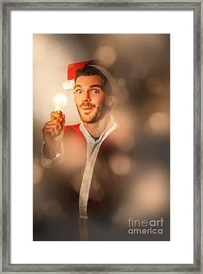 Lights Of Christmas Ideas Framed Print
