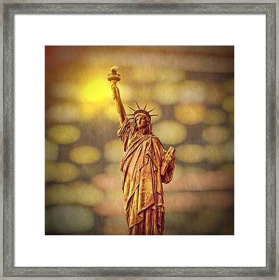 Lights Of Liberty Framed Print