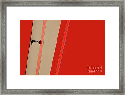 Lights On Red Framed Print by Dan Holm