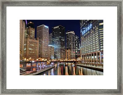 Lights On The River Framed Print by Frozen in Time Fine Art Photography
