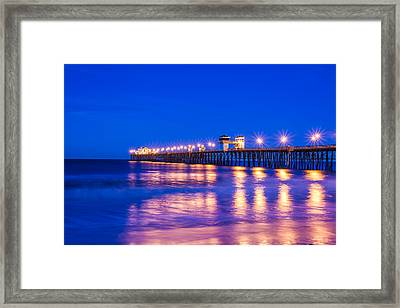Lights On The Water Framed Print by Joseph S Giacalone