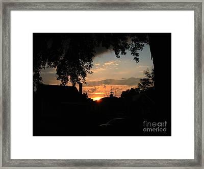 Lights Out Framed Print