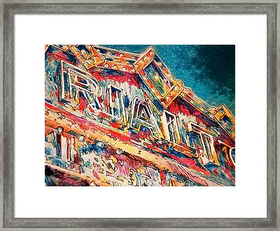 Lights Out At The Rialto Framed Print by Don Getz