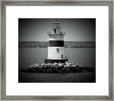 Lights Out-bw Framed Print