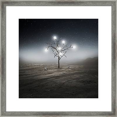 Lights Out Framed Print by Zoltan Toth