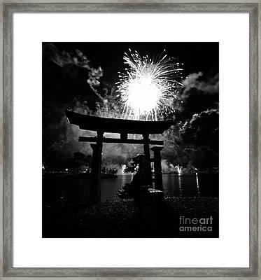Lights Over Japan Framed Print