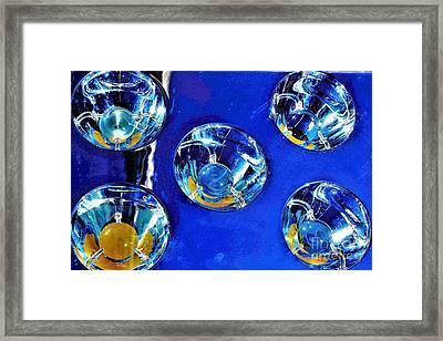 Lights Under Glas Framed Print