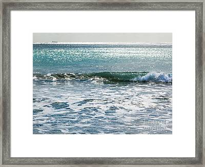 Lightscape On Water Framed Print by Michelle Wiarda
