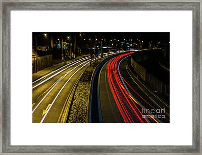 Lightstreams In Schwaebisch Gmuend Framed Print