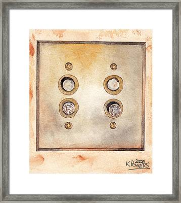 Lightswitch Framed Print by Ken Powers
