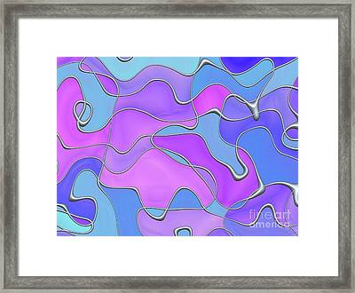 Framed Print featuring the digital art Lignes En Folie - 02a by Variance Collections